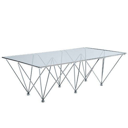 Prism Rectangle Coffee Table Clear - Modway - image 1 of 4