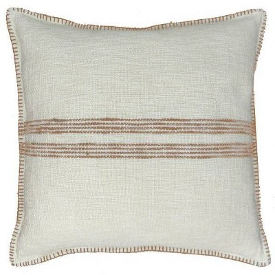 Woven Stripe Oversized Square Pillow Tan/Cream - Threshold™