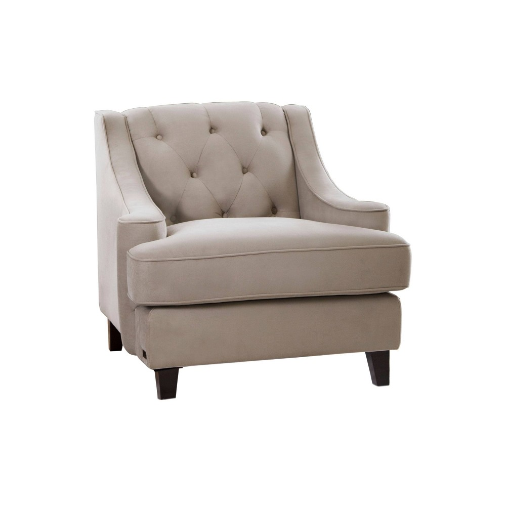 Image of 36 X 36 X 33 Upholstered Chair - Abbyson Living, Beige