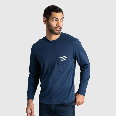 Men's United By Blue Organic Logo Waves Long Sleeve Graphic T-Shirt