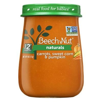 Beech-Nut Naturals Carrots, Sweet Corn & Pumpkin Baby Food Jar - 4oz