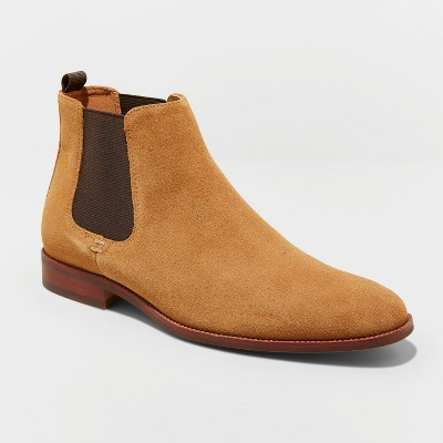 Men's Paxton Suede Chelsea Boots   Goodfellow & Co™ Tan by Goodfellow & Co
