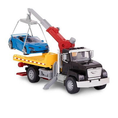 DRIVEN – Large Toy Truck with Car and Crane Arm – Tow Truck