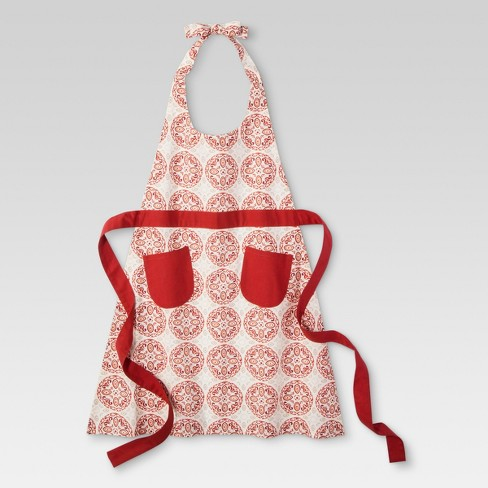 Red Kitchen Textiles Cooking Apron - Threshold™ - image 1 of 1