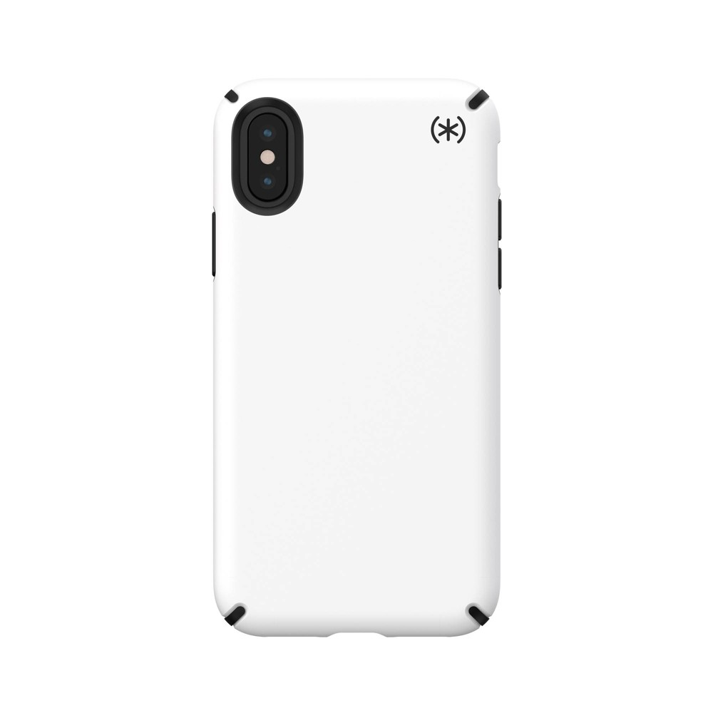 Speck Apple iPhone X/XS Presidio Pro Soft Touch Case - White/Black, White Black