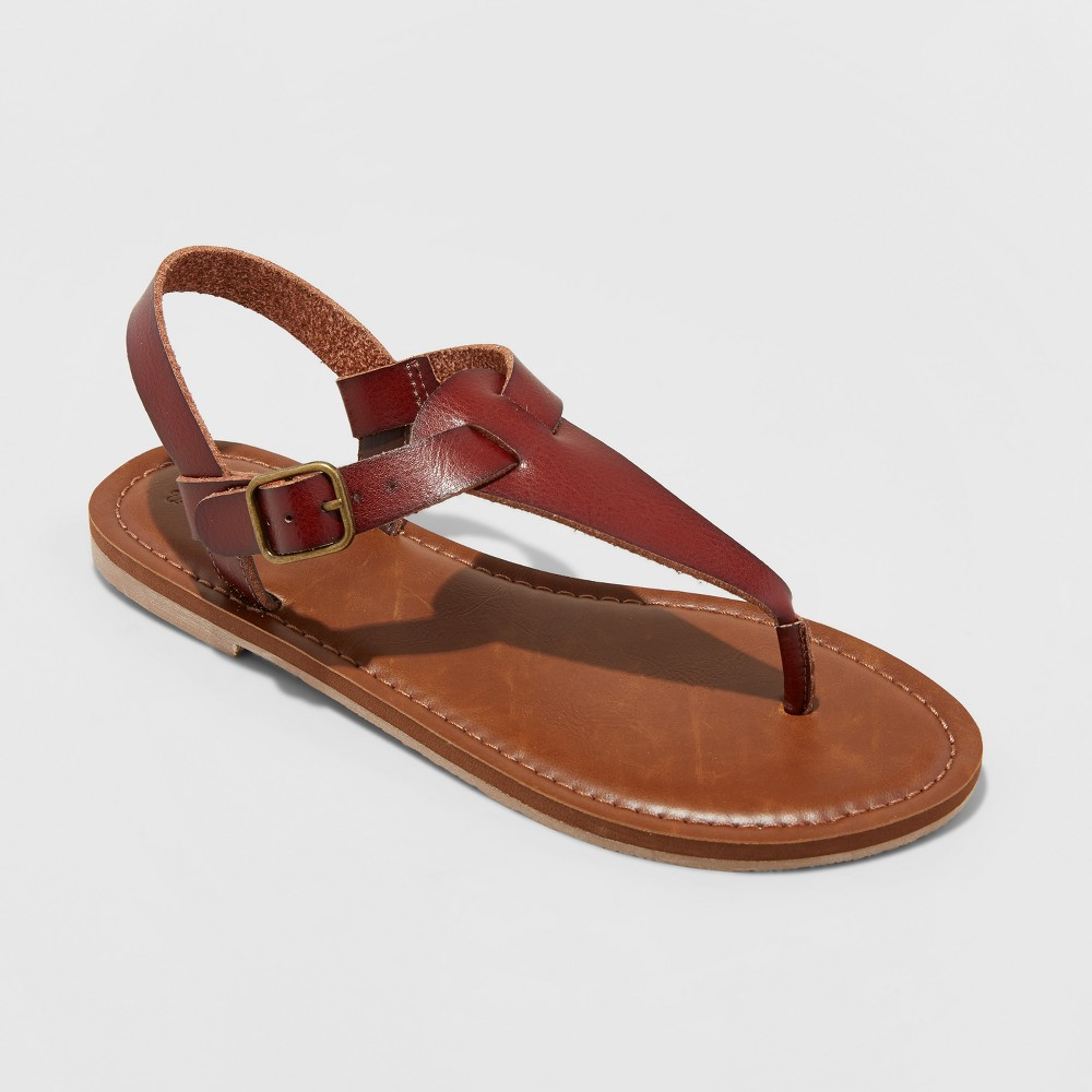 Women's Lady Toe Thong Sandal - Universal Thread Brown 11
