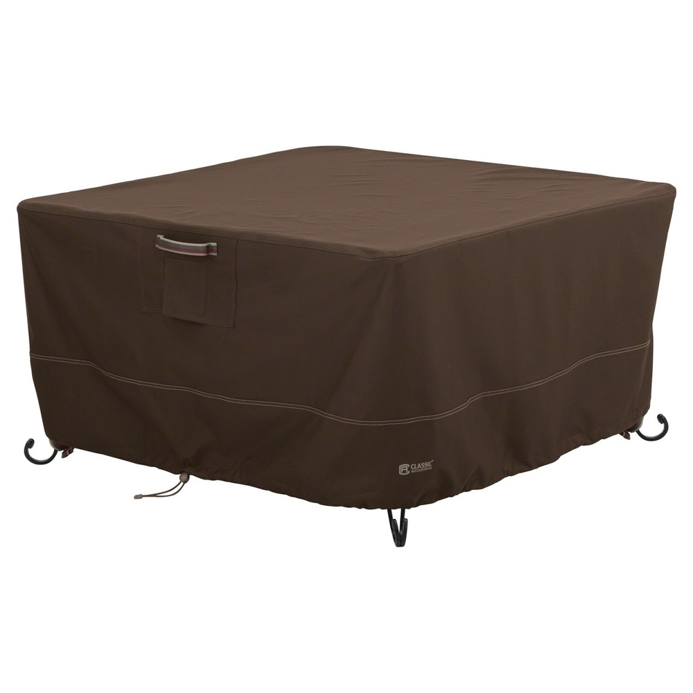 Madrona 42 Square Full Coverage Fire Pit Table Cover - Dark Cocoa (Brown) - Classic Accessories