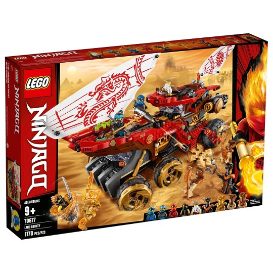 LEGO Ninjago Land Bounty 70677 Building Set with Ninja Minifigures, Action Toys for Creative Play image number null