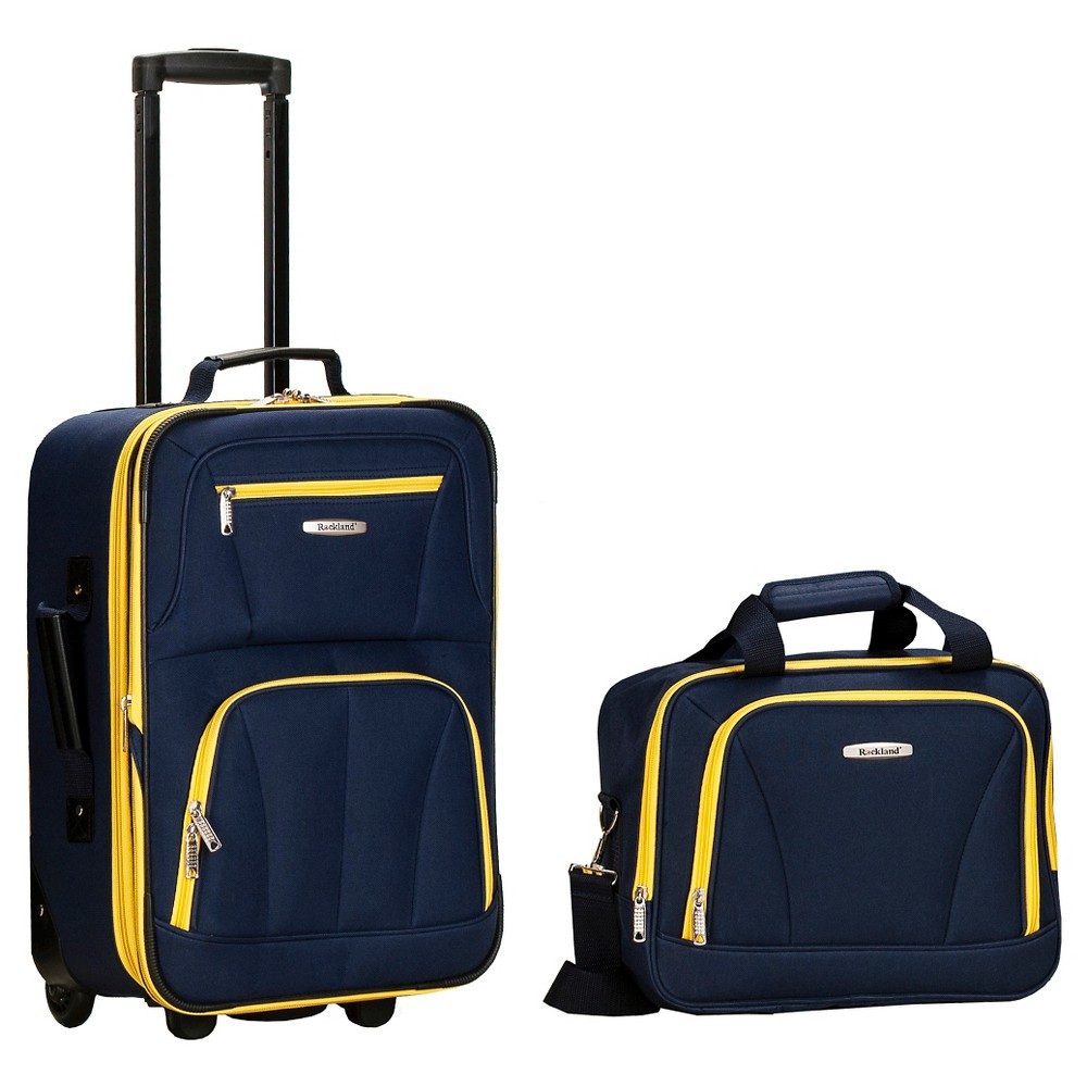 Rockland Fashion 2pc Luggage Set - Navy (Blue)