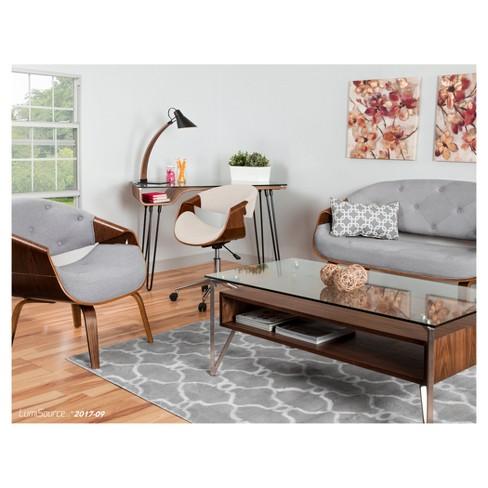 Curvo Mid Century Modern Accent Chair - Lumisource : Target