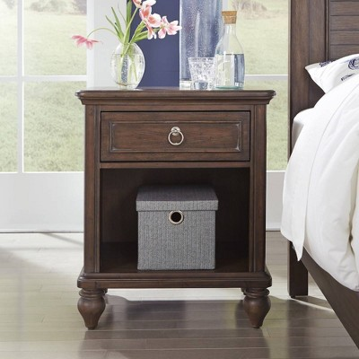 Southport Nightstand Dark Aged Oak - Home Styles