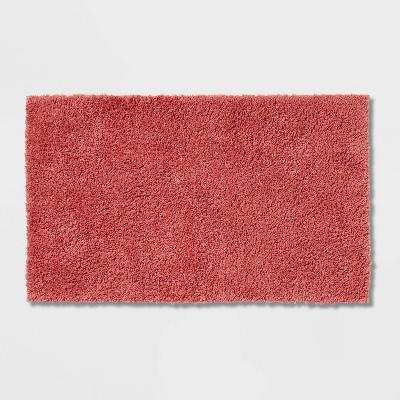"23""x37"" Antimicrobial Bath Rug Rose Pink - Total Fresh"