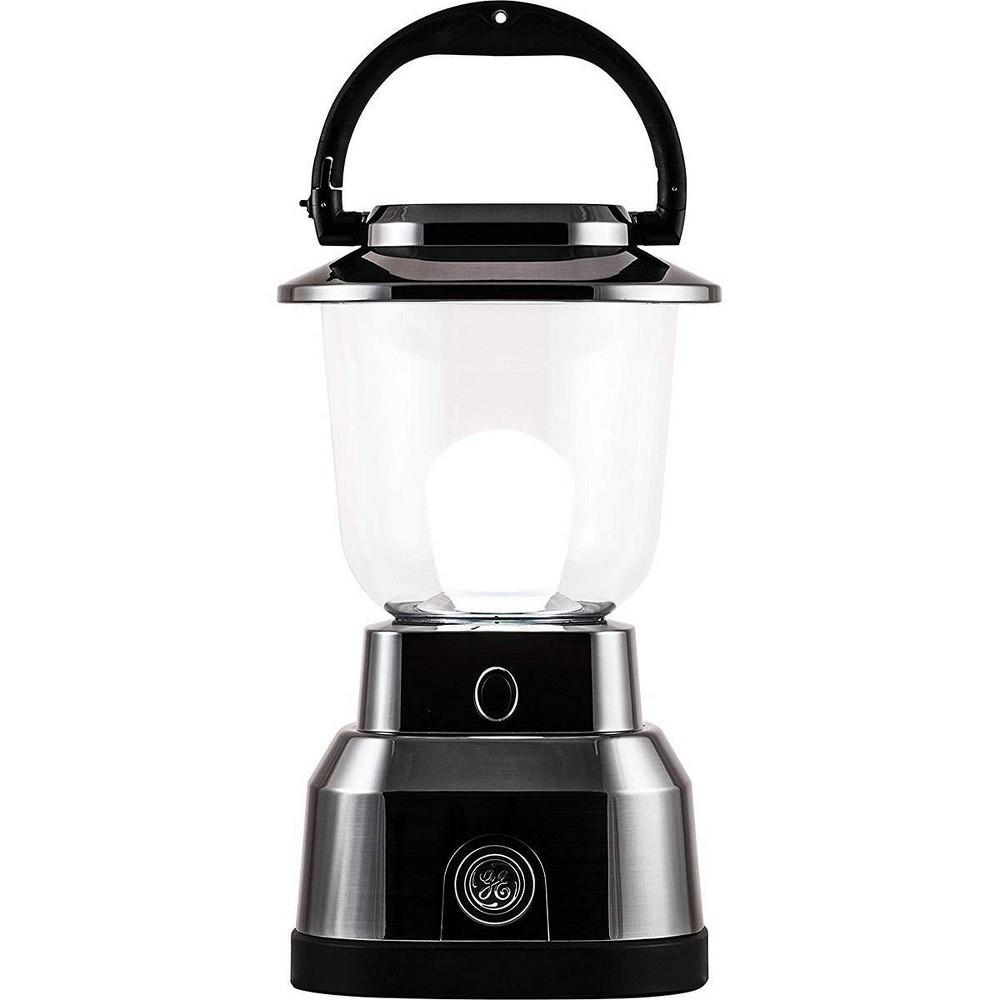 "Image of ""6D 7.3"""" LED Outdoor Lantern Nickel - Enbrighten, Silver"""