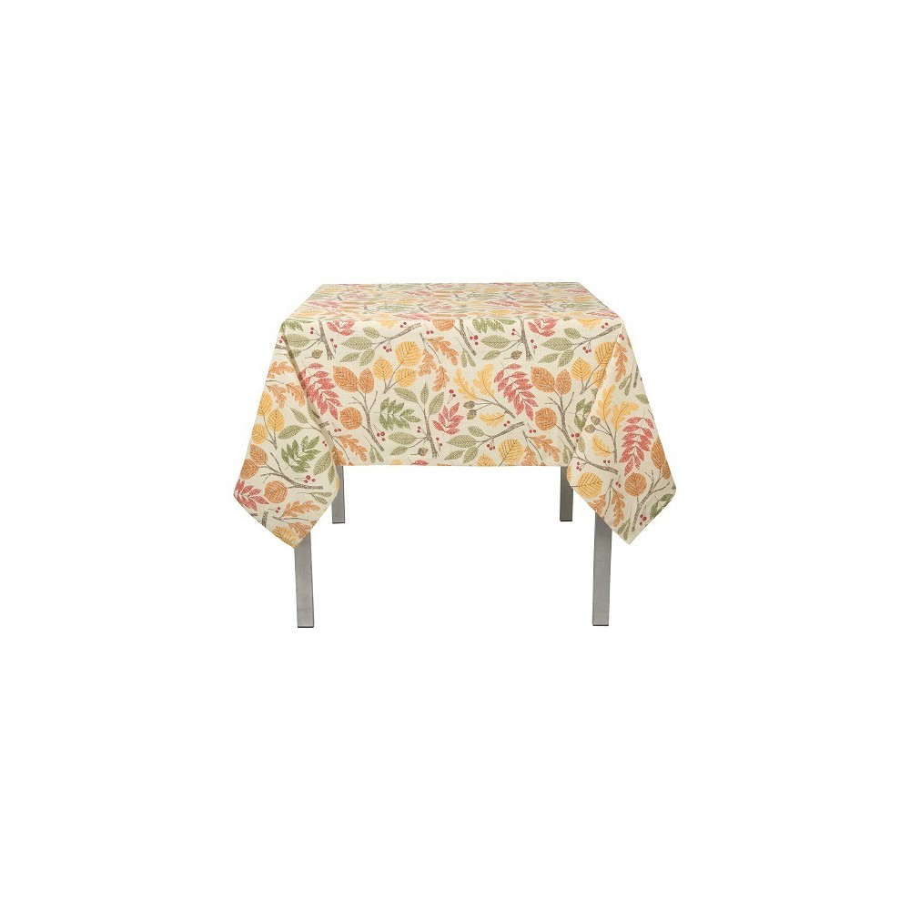 Image of Tablecloth Red Buff Beige Green Pumpkin Now Designs