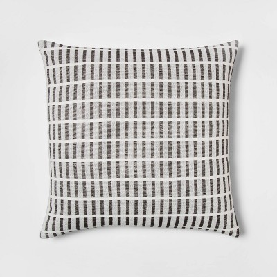 Woven Linework Square Pillow Cream/Black - Project 62™
