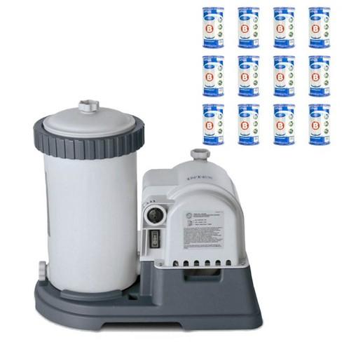 Intex Krystal Clear 28633EG Pool Pump + Type B Replacement Cartridge (12 Pack) - image 1 of 4