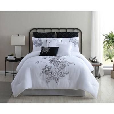 Modern Threads 8 Piece Fashion Comforter Set Cascading Floral.