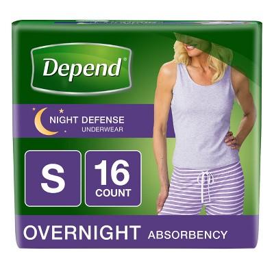 Depend Women's Night Defense Incontinence Underwear S - 16ct