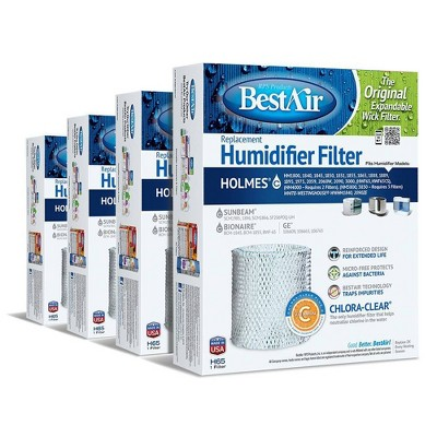 BestAir 4pk H65 Humidifier Air Control Filter for Holmes