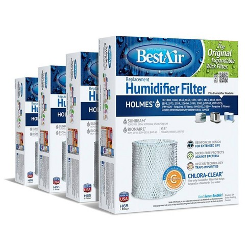 BestAir 4pk H65 Humidifier Air Control Filter for Holmes - image 1 of 3
