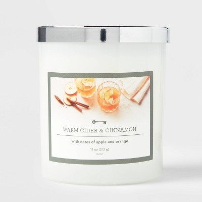 Glass Jar Warm Cider and Cinnamon Candle - Threshold™