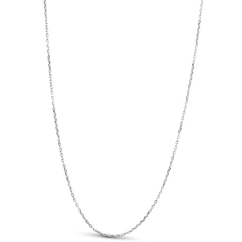 """Pompeii3 14k White Gold 18"""" Chain With Lobster Clasp 1.6 grams - image 1 of 3"""