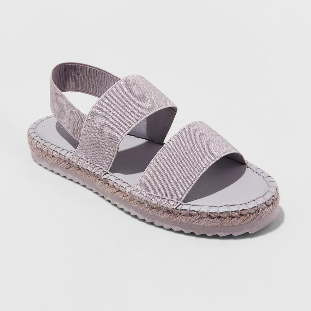 Women's Noelya Ankle Strap Sandal - A New Day Purple 9