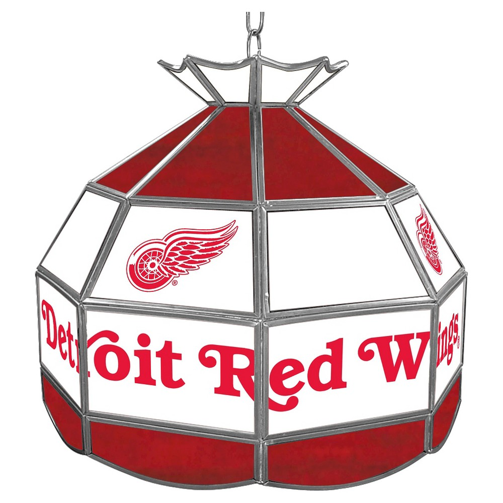 Detroit Redwings Stained Glass Tiffany Lamp - 16 inch