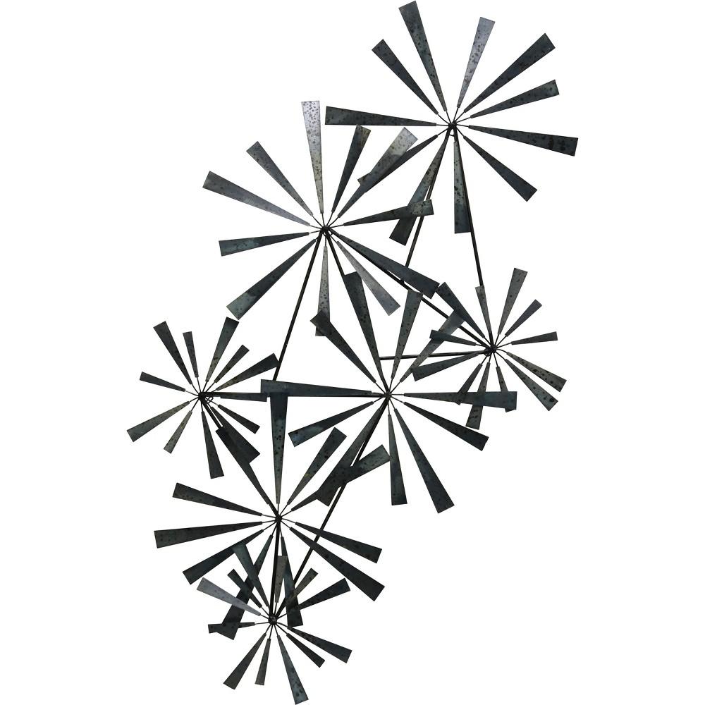 32.7 Bj Keith Pin Wheel Metal Decorative Wall Art Fired Metal - StyleCraft