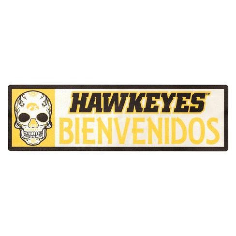 NCAA Iowa Hawkeyes Outdoor Bienvenidos Step Decal - image 1 of 2