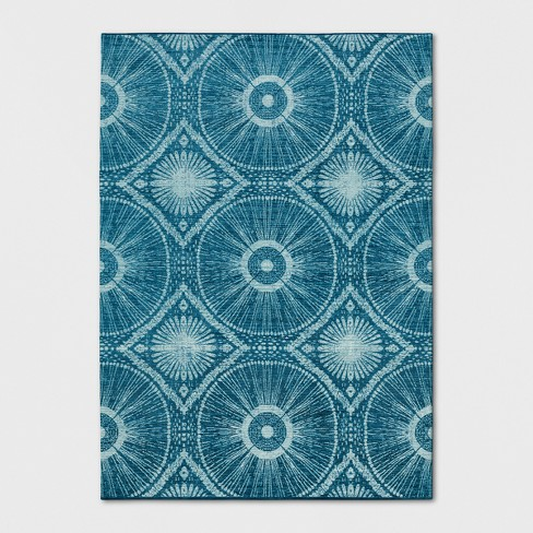 Teal Blue Medallion Woven Area Rug - Opalhouse™ - image 1 of 4