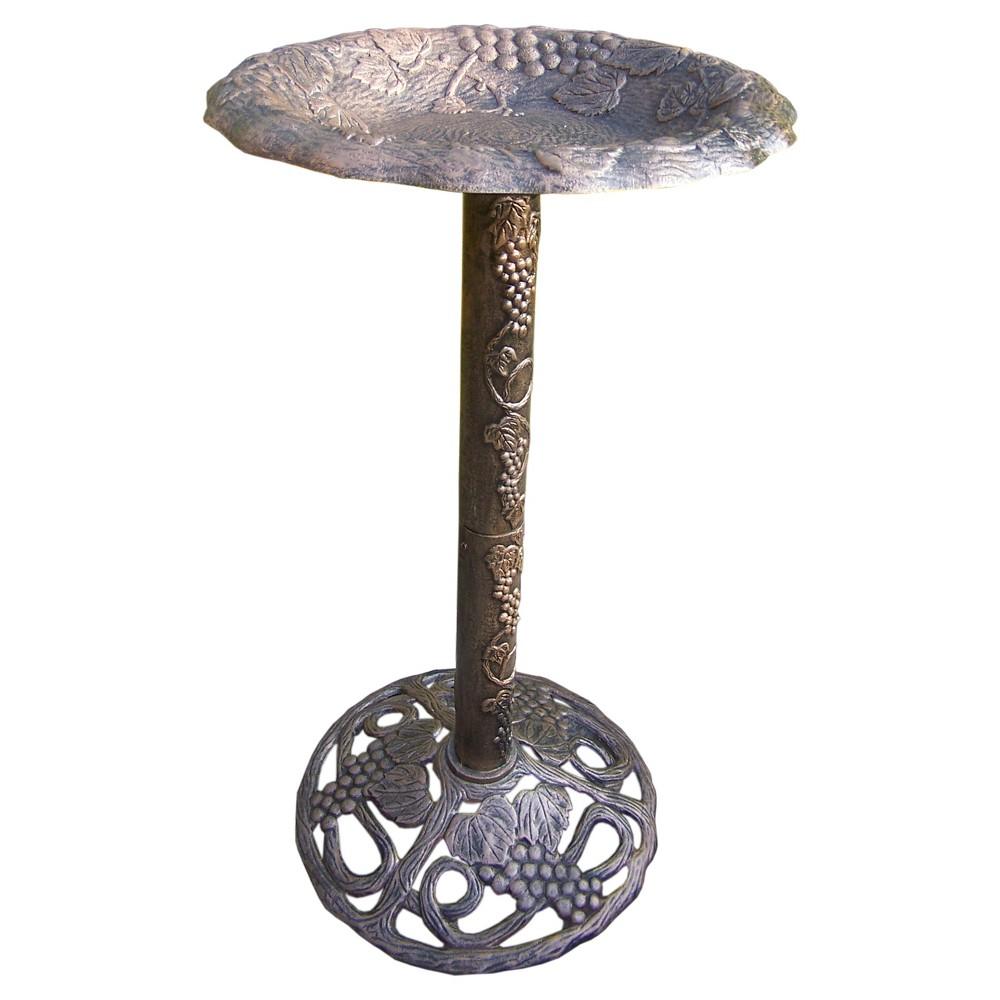 32 Vineyard BirdBath - Antique Bronze
