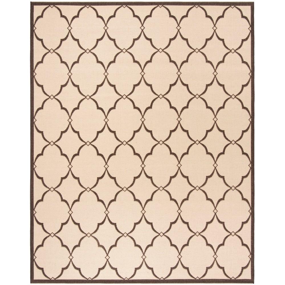 9X12 Geometric Loomed Area Rug Cream/Brown - Safavieh Buy