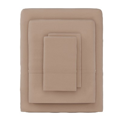 Hastings Home 4-pc Brushed Microfiber Sheet Set - Queen, Taupe