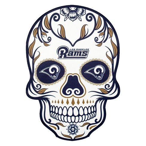 NFL Los Angeles Rams Small Outdoor Skull Decal - image 1 of 2