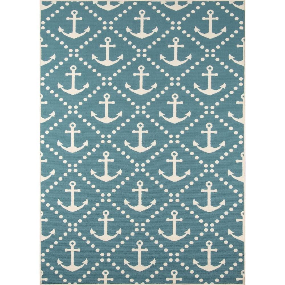Anchor Trellis Rug - Blue - (7'10