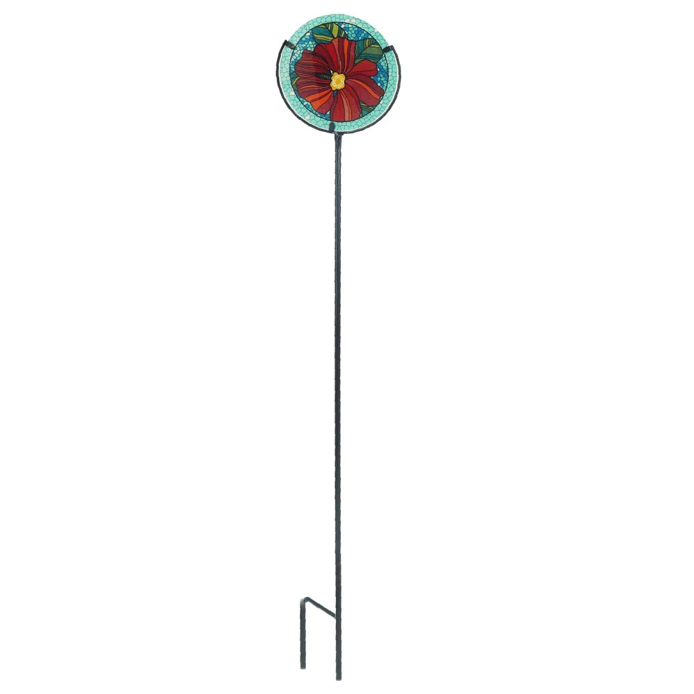 "Image of ""36.2"""" H Glass Garden Stake - Creative Motion"""