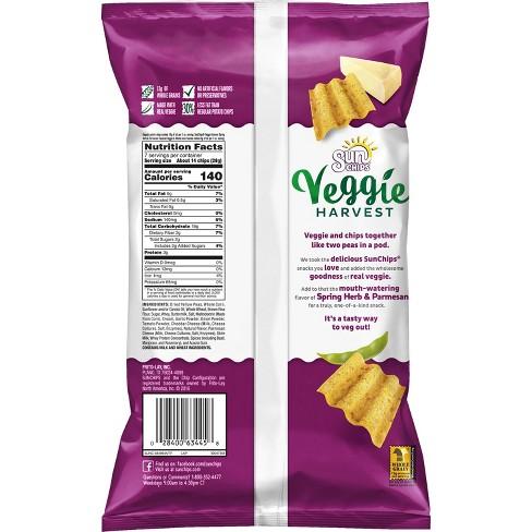sun chips veggie harvest spring herb parmesan snacks 7oz target