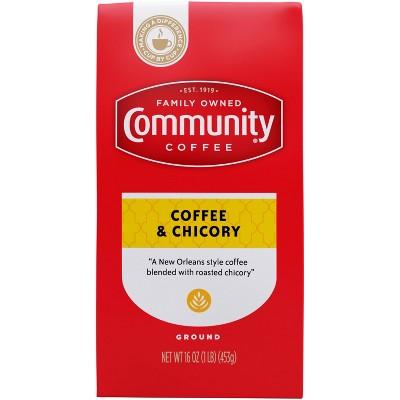 Community Coffee Coffee & Chicory Medium-Dark Roast Ground Coffee - 16oz