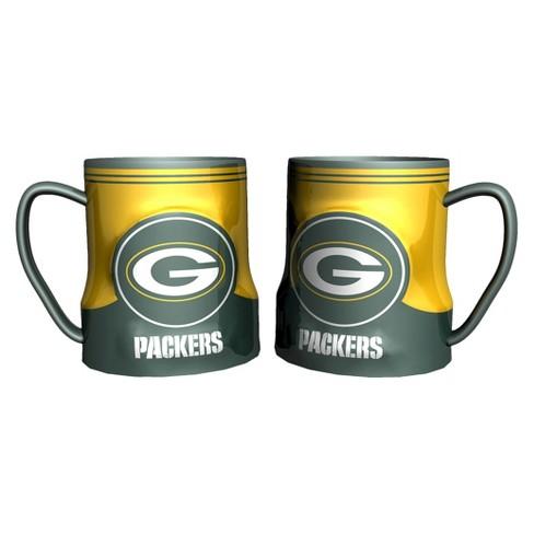 15oz Sculpted Boelter Green Bay Packers Coffee Mug