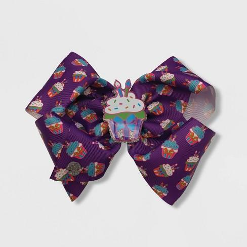 Girls' JoJo Siwa Cupcakes Bow Hair Clip - image 1 of 1