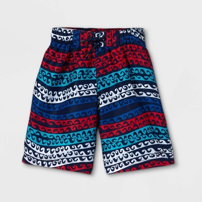 """Speedo Boys' Current Curl Print 17"""" Board Shorts - Red"""