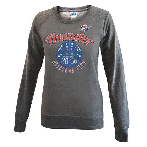 ac7095c371b Oklahoma City Thunder Women s Gray Quilted Shoulder Sweatshirt S. Shop all  NBA