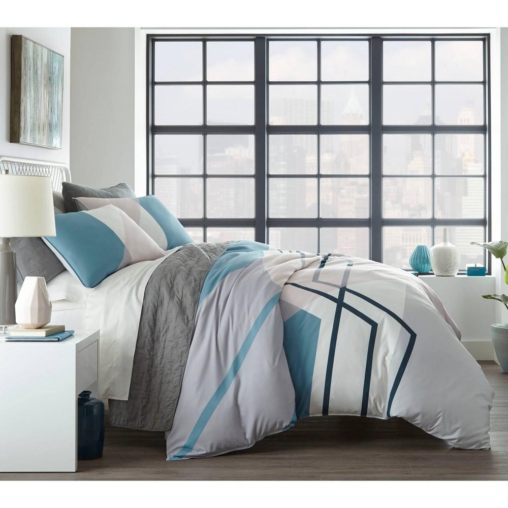 Image of City Scene Full/Queen Thornton Comforter Set Blue