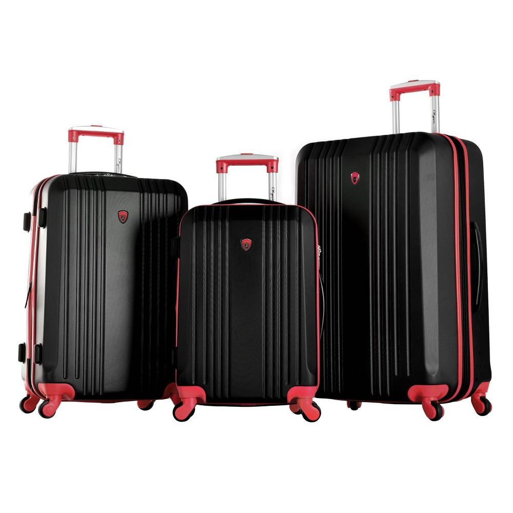 Image of Olympia USA Apache II 3pc Luggage Set - Black/Red