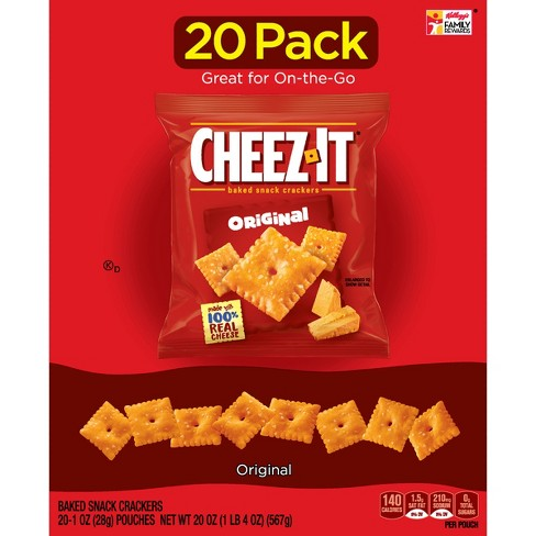 Cheez-It Original Baked Snack Crackers - 1oz - 20ct - image 1 of 5