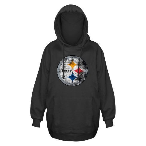 best website eea3b b5628 Pittsburgh Steelers Women's Plus Size Team Logo Fleece Pullover Hoodie  Sweatshirt - 1X