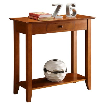 American Heritage Hall Table with Drawer/Shelf Cherry - Breighton Home