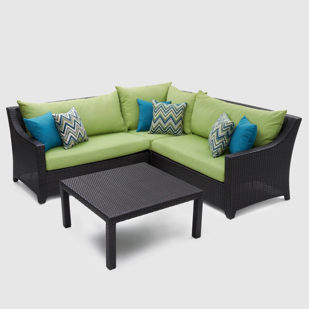 Rst Brands Deco 4-piece Sectional and Table Set - Gingko Green