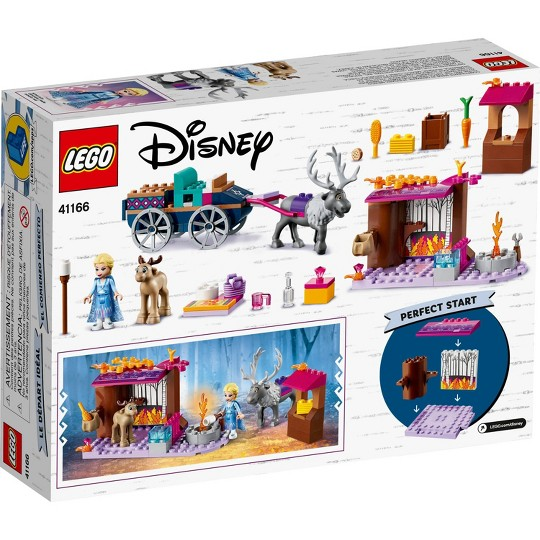 LEGO Disney Frozen II Elsa's Wagon Carriage Adventure Building Kit and Elsa Doll 41166 image number null